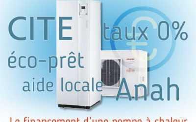 Aides financières installation pompe à chaleur air-eau